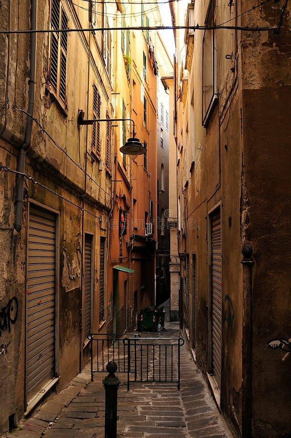 улицы genoa стоковая фотография