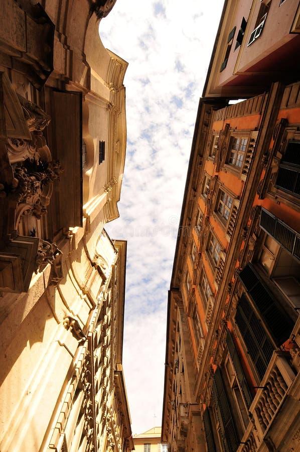 улицы genoa стоковое изображение
