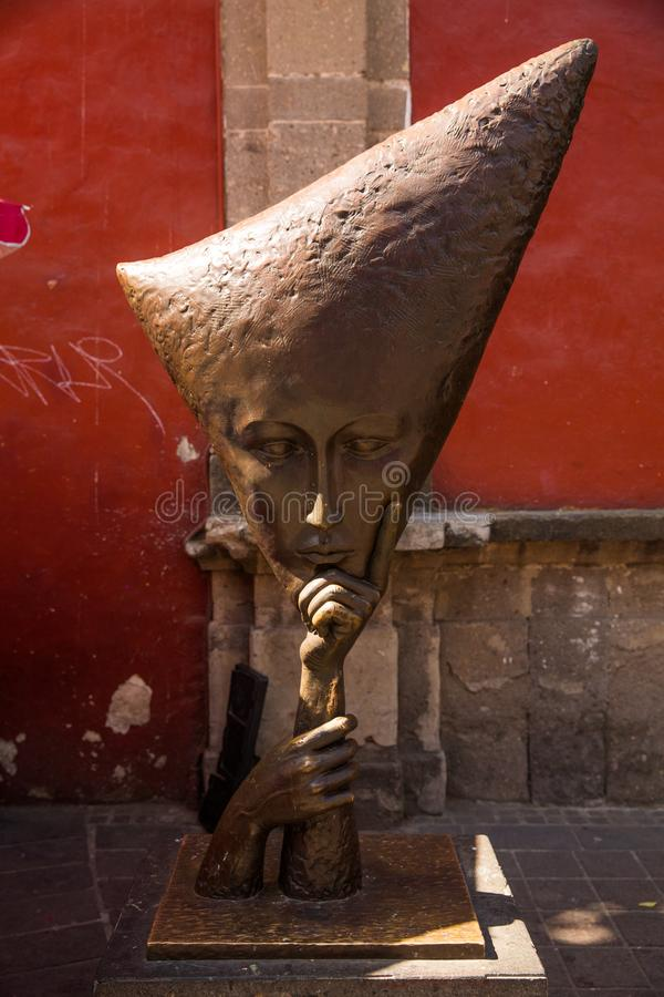 Улицы Tlaquepaque в Халиско, Мексике стоковое фото rf