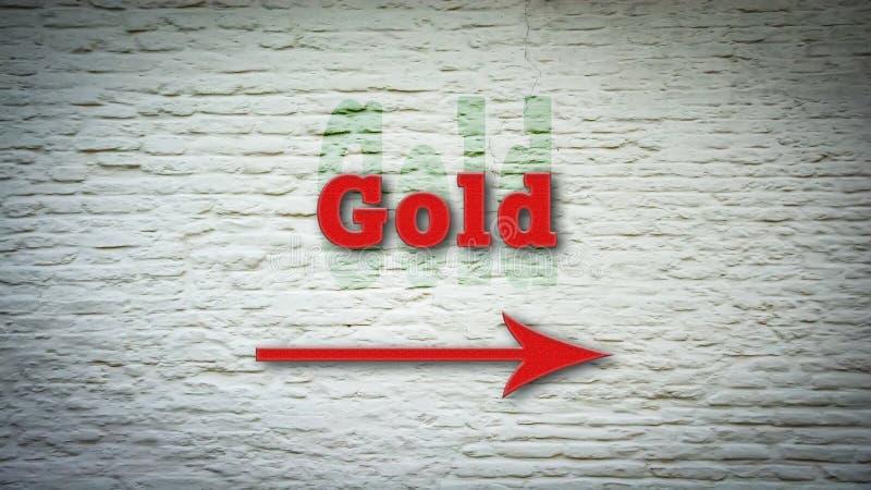 Уличный знак золота стоковые фото