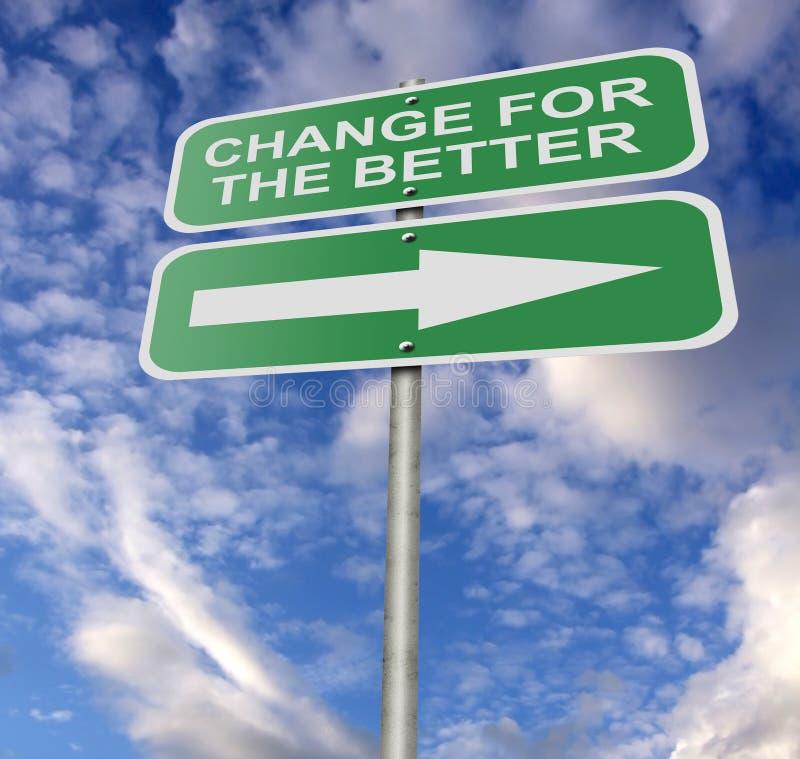 улучшайте улицу дорожного знака изменения бесплатная иллюстрация