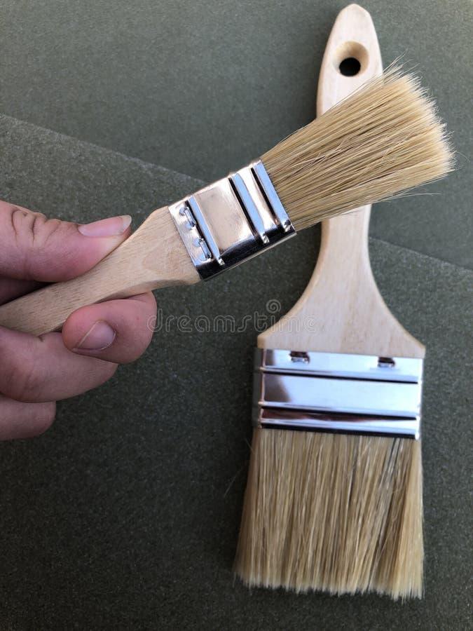 Улучшения дома и DIY, кисти стоковое фото
