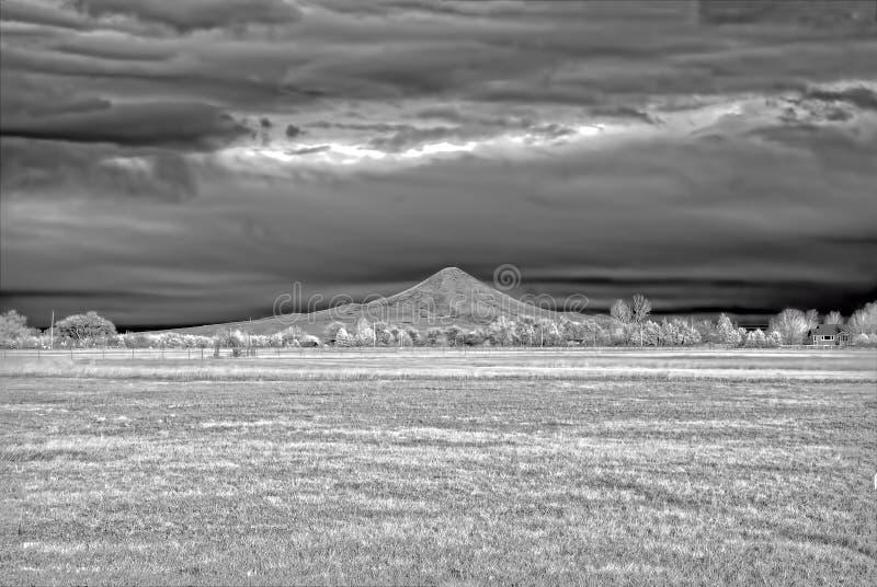 Ультракрасное изображение поля зимы вне Больдэра, Колорадо стоковые изображения