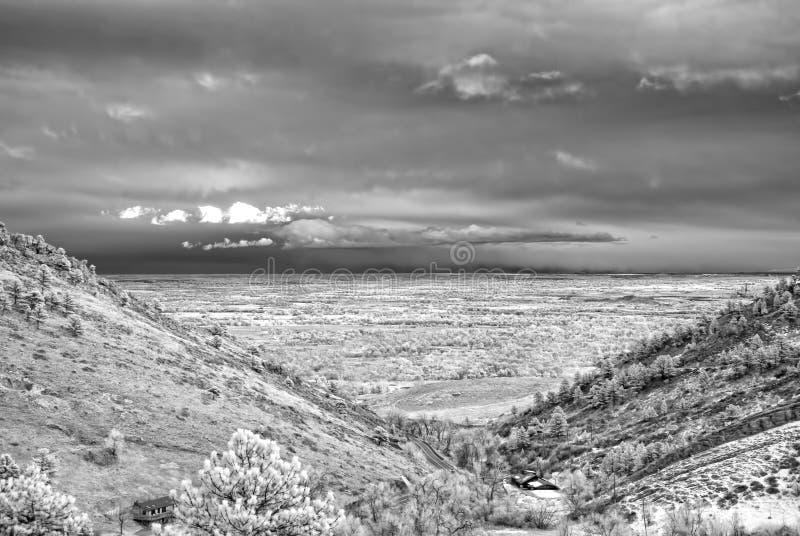 Ультракрасное изображение 2 холмов и равнины Колорадо, вне Больдэра, Колорадо стоковая фотография