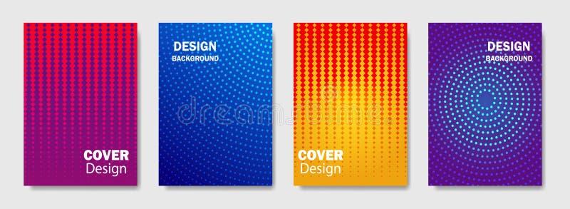 Ультрамодная линия дизайн конспекта градиента крышки предпосылки картины Современный дизайн предпосылки с ультрамодным и ярким цв иллюстрация вектора
