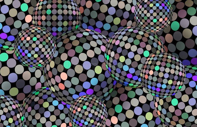 Ультрамодная предпосылка сфер hologram 3d Картина радужной мозаики зеркала творческая Шарики диско праздника shimmer обои иллюстрация вектора