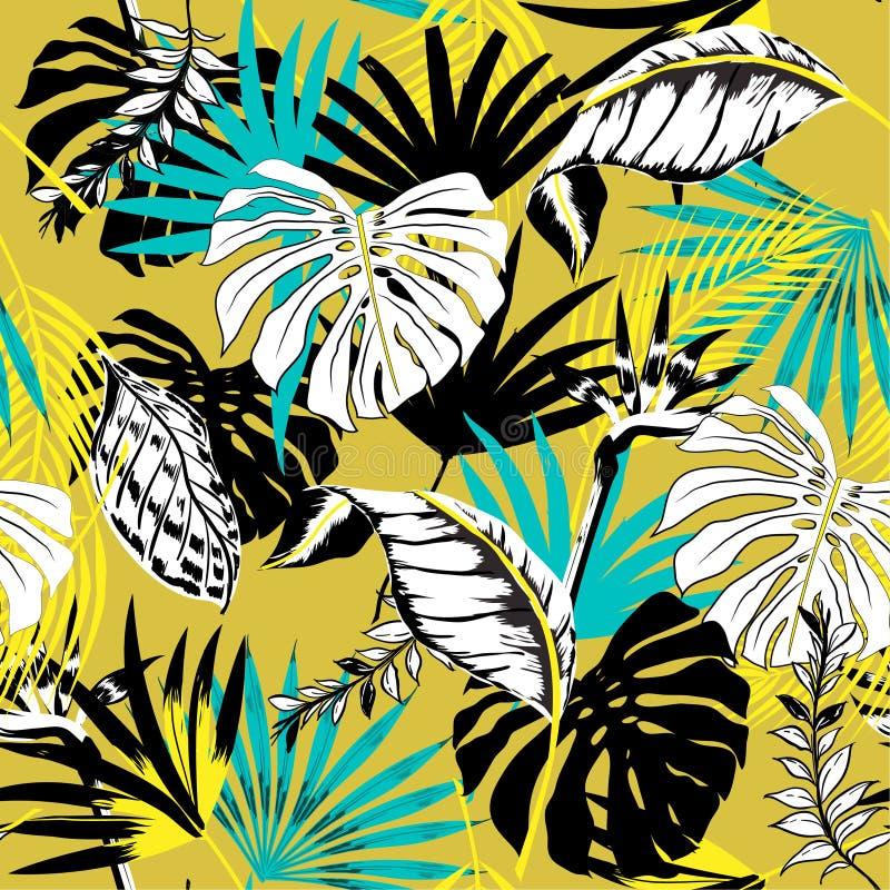 Ультрамодное красивое безшовное triopical backgr картины лета иллюстрация вектора