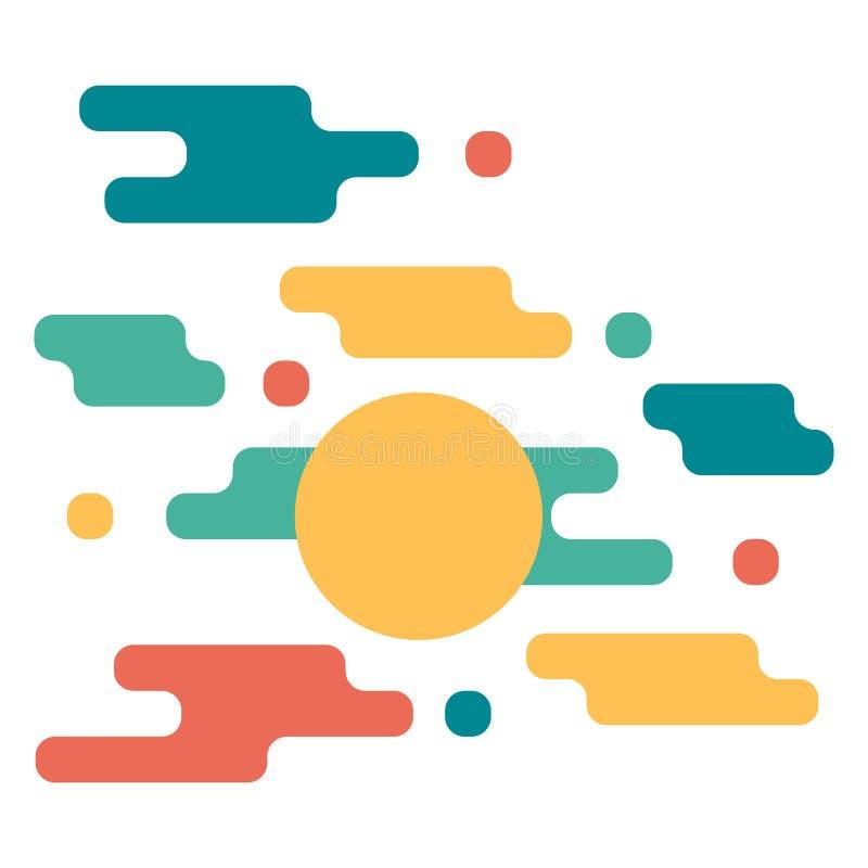 Ультрамодные карты с плоским динамическим дизайном Применимый для крышек, плакатов, плакатов, летчиков и дизайнов знамени иллюстрация штока
