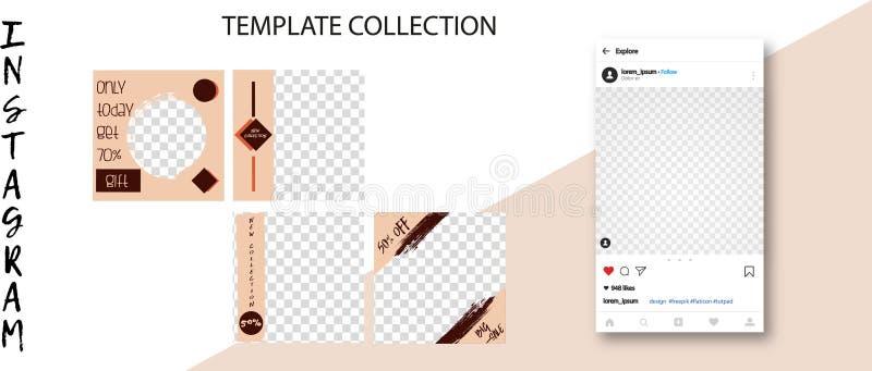 Ультрамодные социальные шаблоны сети Социальные знамена средств массовой информации для вашего дизайна Editable насмешка столба I бесплатная иллюстрация