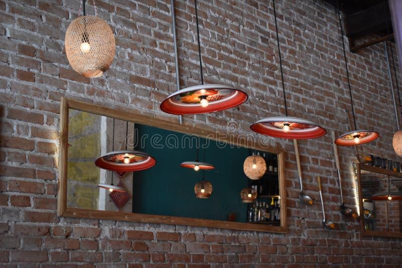 Ультрамодный интерьер ресторана стоковое фото rf