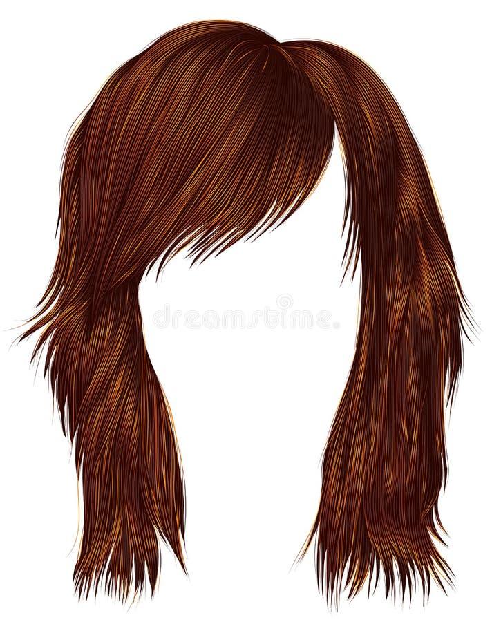 Ультрамодный цвет красного имбиря волос женщины средств длина Красота s бесплатная иллюстрация