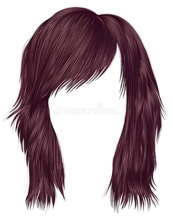 Ультрамодный цвет пинка opper  волос Ñ женщины средств длина бобра бесплатная иллюстрация
