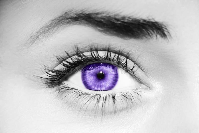 Ультрафиолетов глаз стоковые изображения