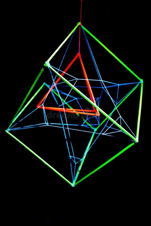 ультрафиолетов диаграмма неон trance диско стоковое изображение rf
