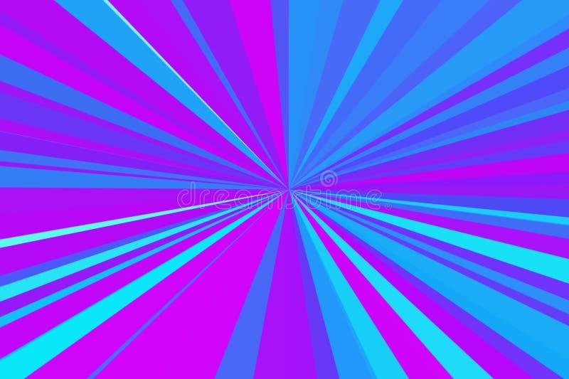 Ультрафиолетов запачканная цветом абстрактная предпосылка световых лучей Ультрафиолетов фиолетовая конфигурация пучка излучения д иллюстрация штока