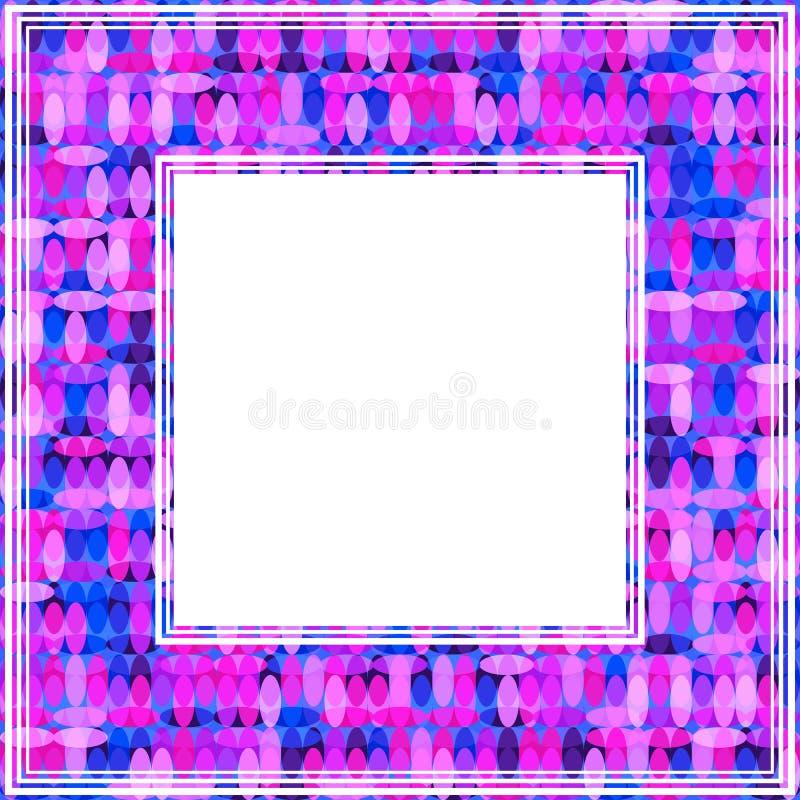 Ультрафиолетов border-19 иллюстрация вектора