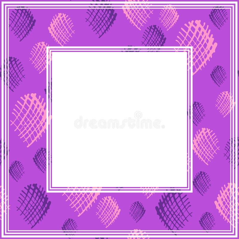 Ультрафиолетов border-01 иллюстрация штока