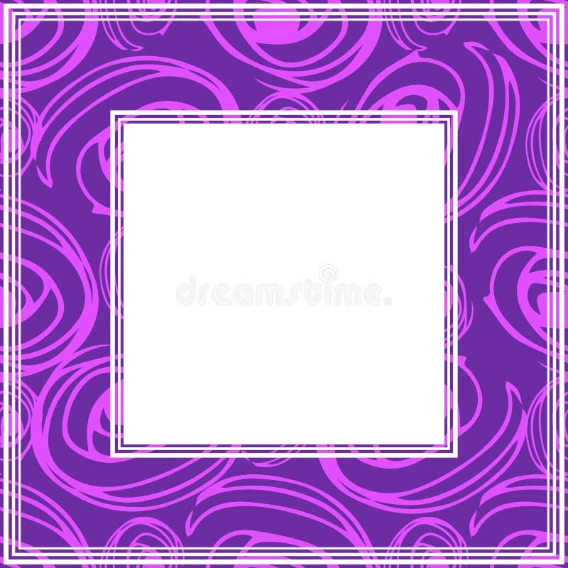 Ультрафиолетов border-06 иллюстрация штока