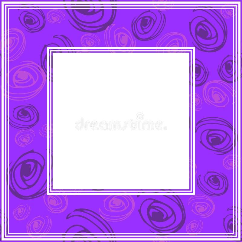 Ультрафиолетов border-07 иллюстрация штока
