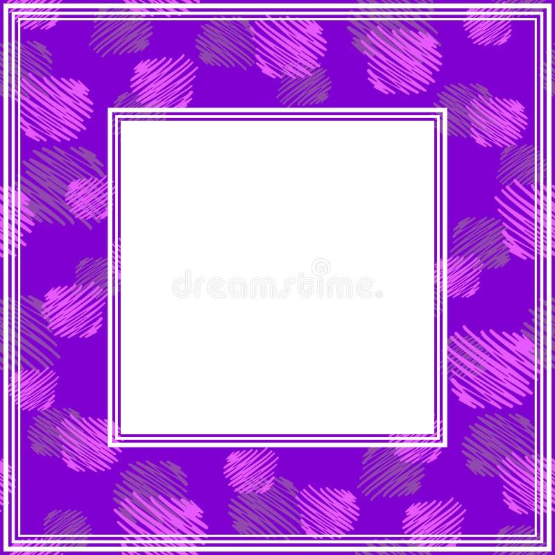 Ультрафиолетов border-10 иллюстрация штока
