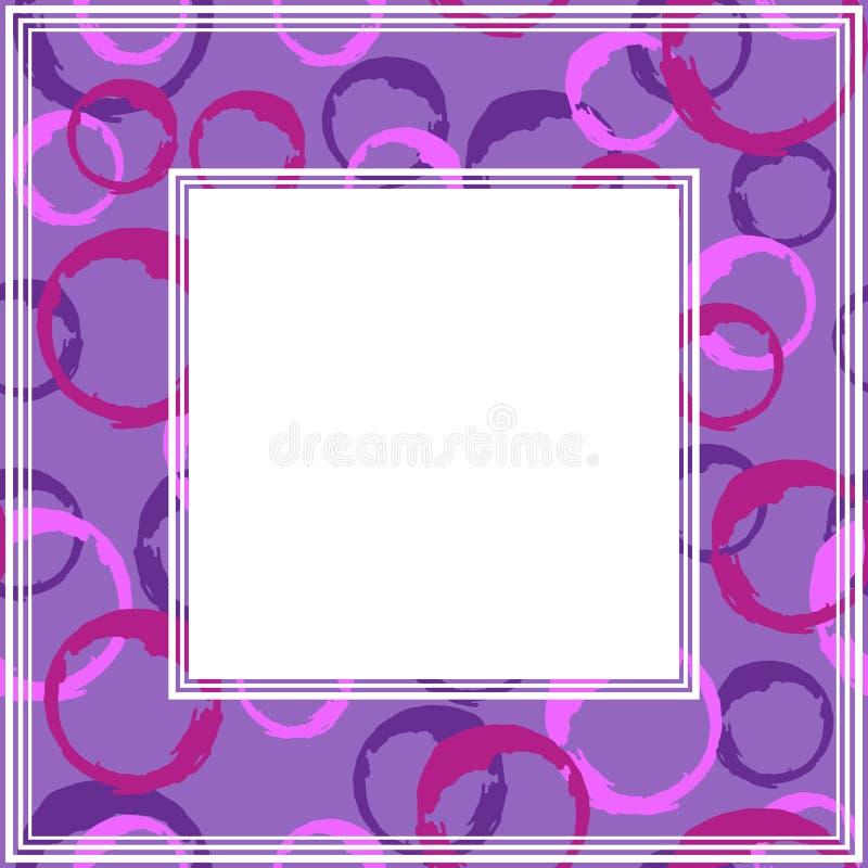 Ультрафиолетов border-09 иллюстрация вектора