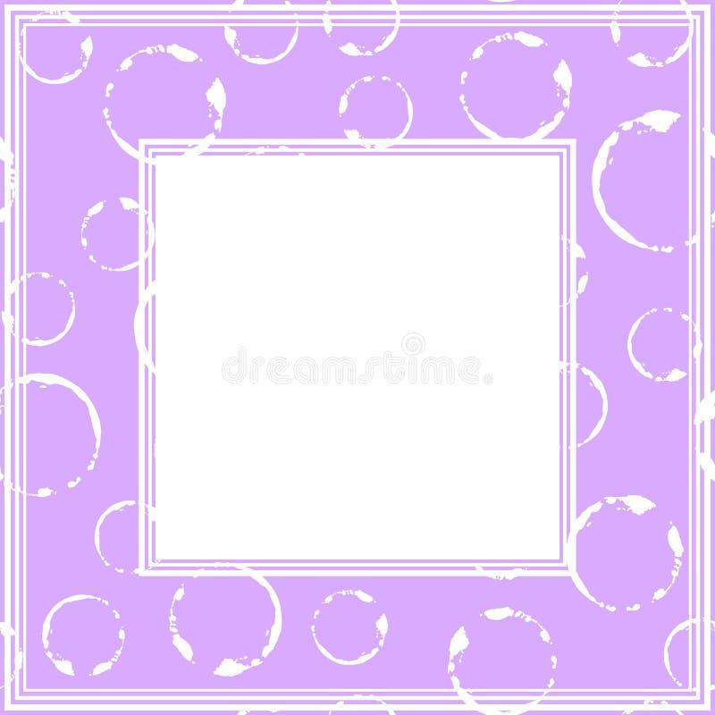Ультрафиолетов border-16 иллюстрация вектора