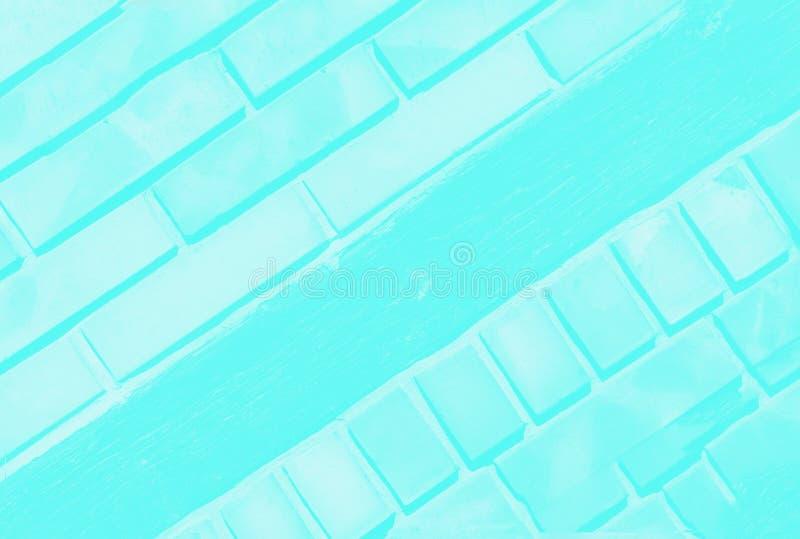 Ультра предпосылка цвета бирюзы aqua с чувствительной картиной кирпича r стоковое фото rf