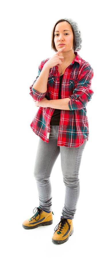Download думая детеныши женщины стоковое изображение. изображение насчитывающей портрет - 41651207