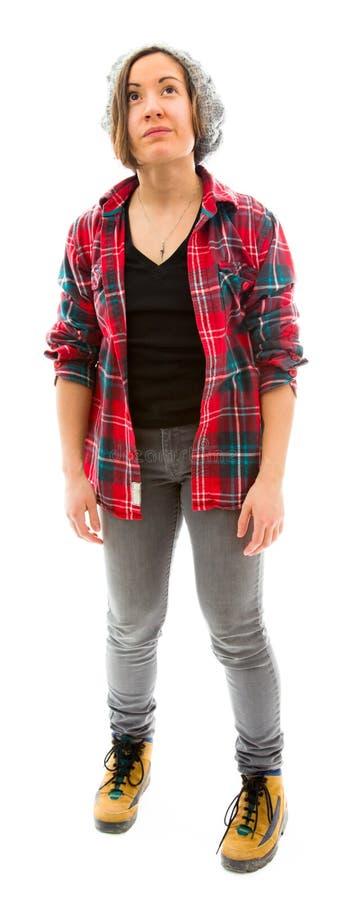 Download думая детеныши женщины стоковое фото. изображение насчитывающей панорамно - 41651542