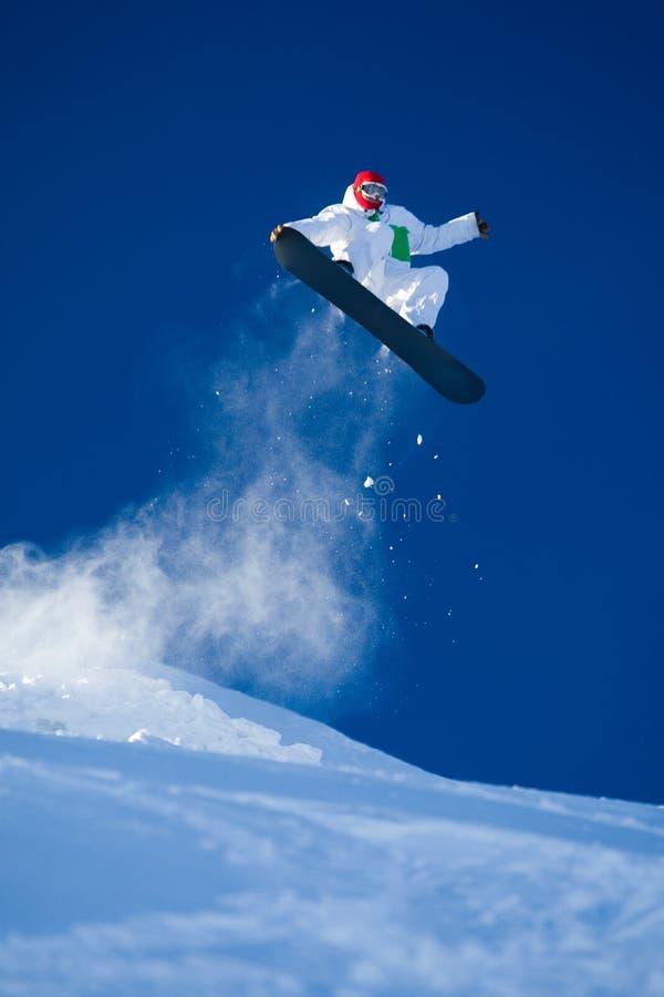 умелый snowboarder стоковые изображения