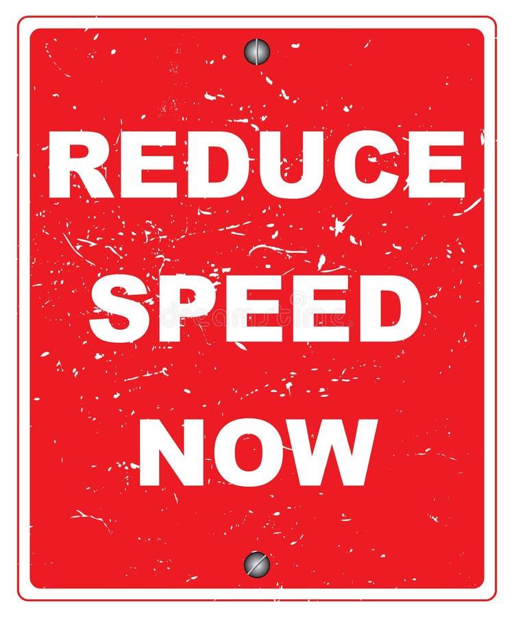 Уменьшите скорость теперь иллюстрация вектора