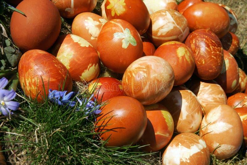 Умирать пасхальных яя стоковая фотография rf