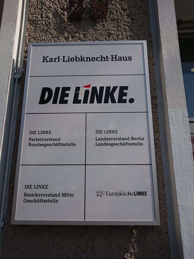 Умирают штабы партии Linke в Берлине стоковые изображения