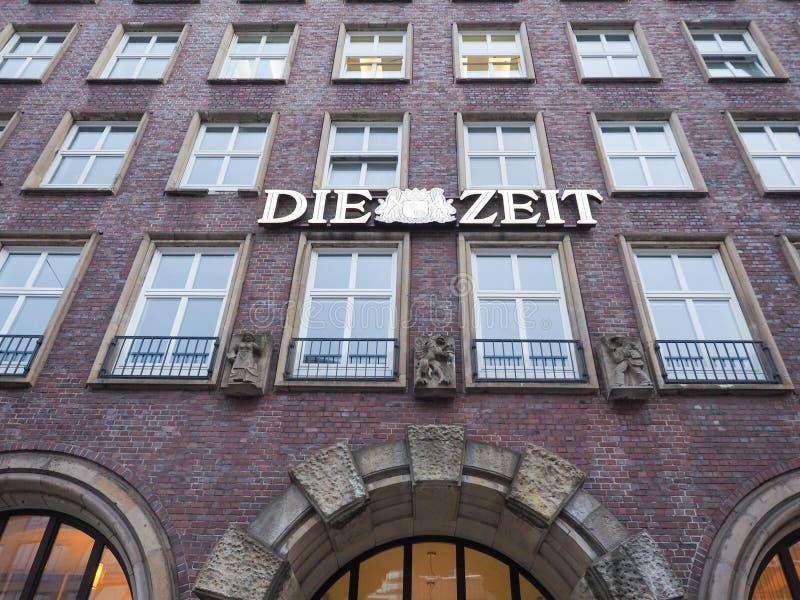 Умирают штабы Zeit в Гамбурге стоковое фото rf