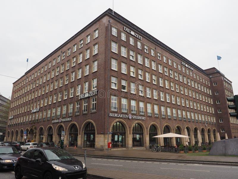 Умирают штабы Zeit в Гамбурге стоковые фото