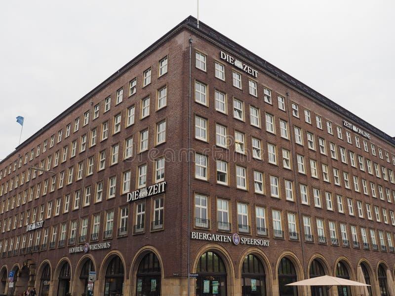 Умирают штабы Zeit в Гамбурге стоковые изображения