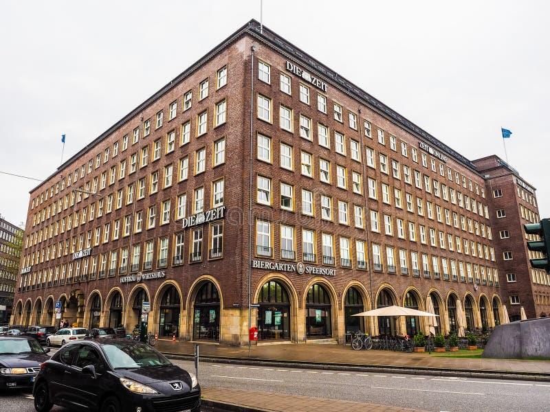 Умирают штабы Zeit в hdr Гамбурга стоковое фото