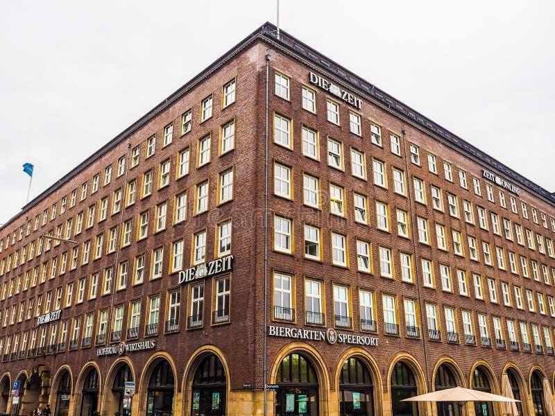 Умирают штабы Zeit в hdr Гамбурга стоковая фотография rf