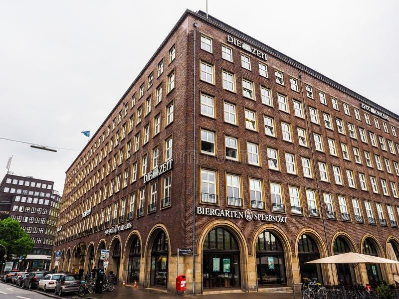 Умирают штабы Zeit в hdr Гамбурга стоковые изображения