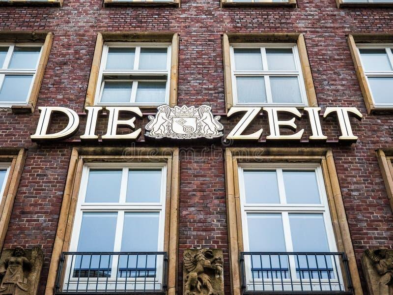 Умирают штабы Zeit в hdr Гамбурга стоковые изображения rf