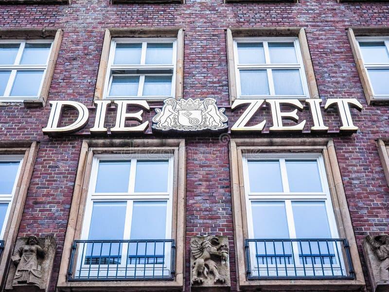 Умирают штабы Zeit в hdr Гамбурга стоковое изображение