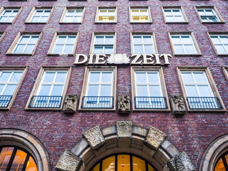 Умирают штабы Zeit в hdr Гамбурга стоковое изображение rf