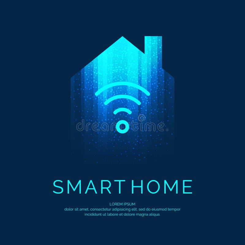 Умная домашняя эмблема для цифровых технологий бесплатная иллюстрация