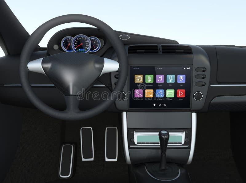 Умная мультимедийная система экрана касания для автомобиля стоковые изображения