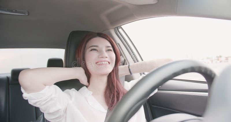 Умная собственная личность управляя концепцией автомобиля стоковая фотография rf