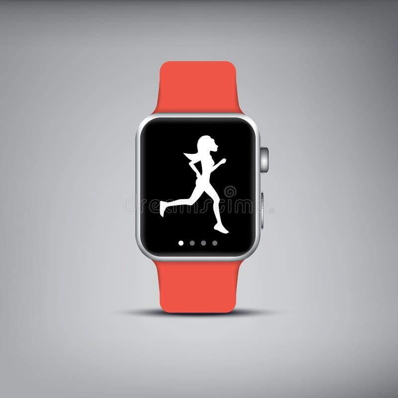 Умная технология вахты с отслежывателем фитнеса спорта бесплатная иллюстрация