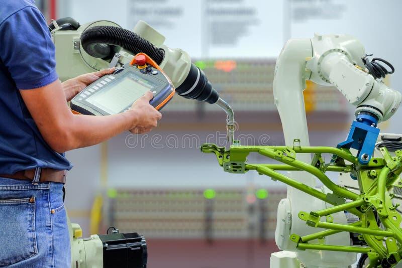 Умная фабрика на индустрии 4 0 технологий стоковые изображения