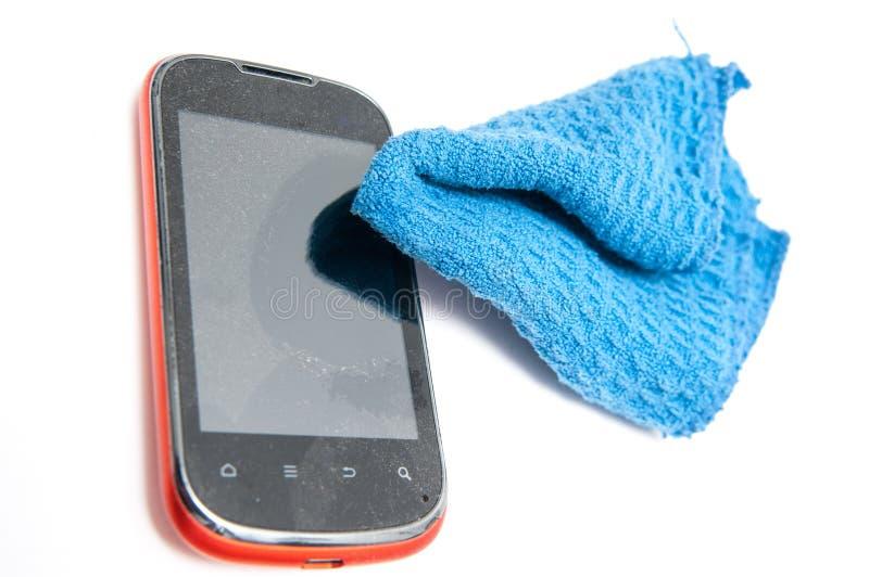 Умная чистка телефона стоковое изображение rf