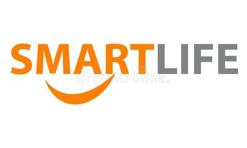 Умная эмблема логотипа жизни иллюстрация штока