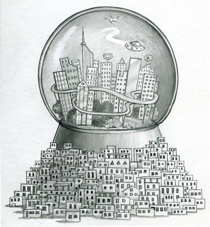 Умное млрд города бесплатная иллюстрация